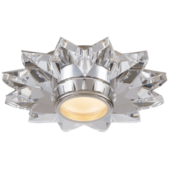"""Elora 7.25"""" Solitaire Flush Mount in Crystal"""