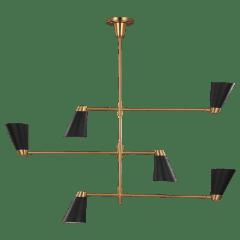 Signoret Large Chandelier Burnished Brass