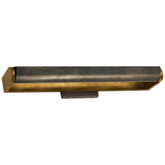 """David 24"""" Art Light in Hand-Rubbed Antique Brass with Bronze Shade"""