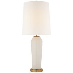 Tiang Large Table Lamp in Ivory with Linen Shade