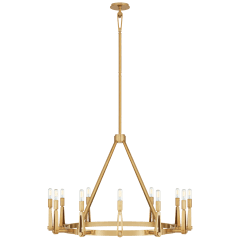Alpha Grande Chandelier in Hand-Rubbed Antique Brass