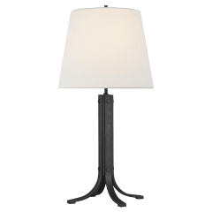 Logan Table Lamp Aged Iron Bulbs Inc