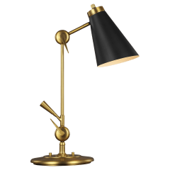 Signoret Task Table Lamp Burnished Brass Bulbs Inc