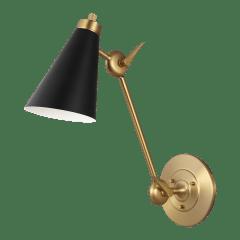 Signoret Library Sconce Burnished Brass