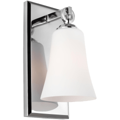 Monterro 1 - Light Sconce Chrome, White Opal Etched Glass