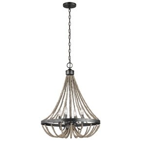 Oglesby Four Light Chandelier Washed Pine Bulbs Inc