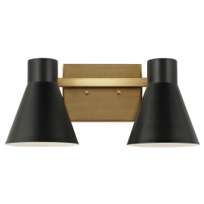 Towner Two Light Wall / Bath Satin Brass Bulbs Inc