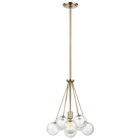 Bronzeville One Light Pendant Satin Brass