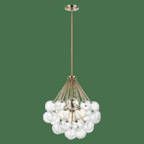Bronzeville Three Light Pendant Satin Brass