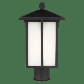 Tomek One Light Outdoor Post Lantern Black Bulbs Inc