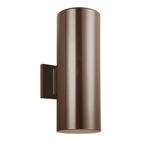 Outdoor Cylinders Small Two Light Outdoor Wall Lantern Bronze