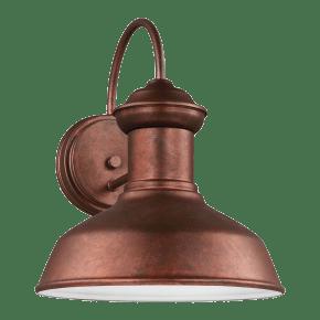 Fredricksburg Small One Light Outdoor Wall Lantern Weathered Copper