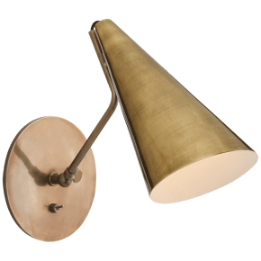 Clemente Wall Light in Hand-Rubbed Antique Brass
