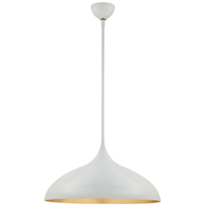 Agnes Large Pendant in Plaster White with Gild Interior