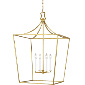 Southold Large Lantern Burnished Brass
