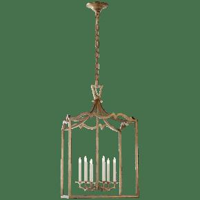 Darlana Large Fancy Lantern in Gilded Iron