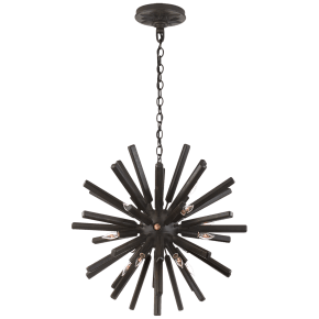 Lawrence Small Sputnik Chandelier in Aged Iron