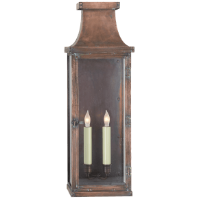 Bedford Large 3/4 Lantern in Natural Copper