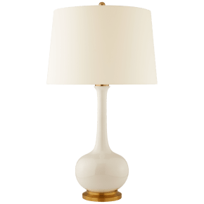 Coy Large Table Lamp in Ivory with Natural Percale Shade