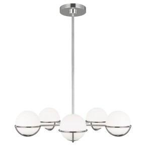 Apollo Chandelier Polished Nickel