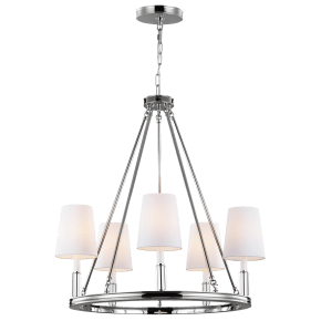 Lismore Medium Chandelier Polished Nickel