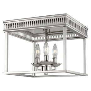 Woodruff Flush Mount Polished Nickel