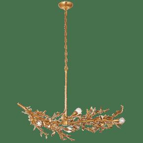 Mandeville Linear Chandelier in Antique Gold Leaf