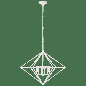 Afton Large Lantern in Plaster White