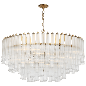Lorelei X-Large Chandelier in Gild with Clear Glass