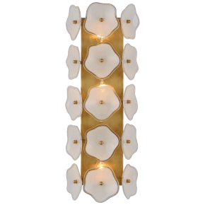 "Leighton 20"" Sconce in Soft Brass with Cream Tinted Glass"
