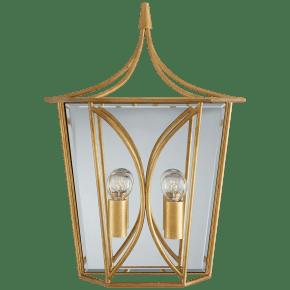 Cavanagh Medium Lantern Sconce in Gild