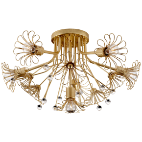 Keaton Bouquet Flush Mount in Gild