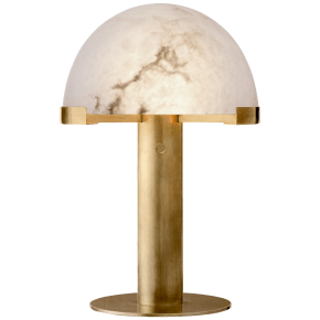 Melange Desk Lamp in Antique-Burnished Brass with Alabaster Shade