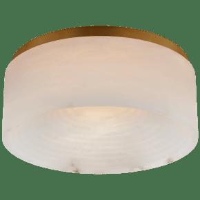 Otto Medium Flush Mount in Antique-Burnished Brass with Alabaster