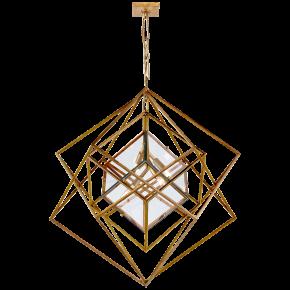 Cubist Medium Chandelier in Gild