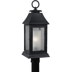 Shepherd Post Lantern Dark Weathered Zinc
