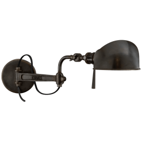 RL '67 Swing Arm Wall Lamp in Bronze