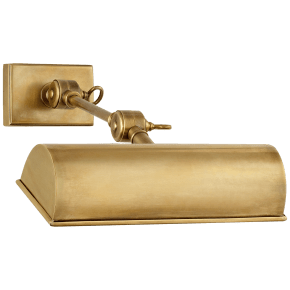 """Anette 9"""" Picture Light in Natural Brass"""