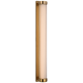 """Ranier 30"""" Linear Bath Light in Natural Brass with Clear Glass Rods"""