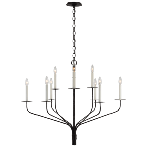 Belfair Large Two-Tier Chandelier in Aged Iron