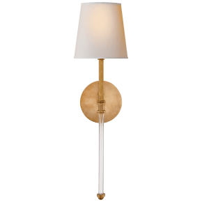 Camille Sconce in Hand-Rubbed Antique Brass with Natural Paper Shade