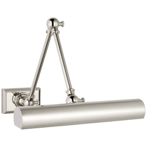 """Cabinet Maker 12"""" Double Library Light in Polished Nickel"""