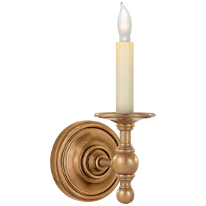 Classic Single Sconce in Hand-Rubbed Antique Brass