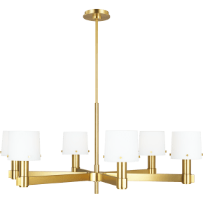 Palma Large Chandelier Burnished Brass