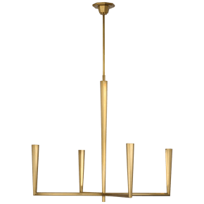 Galahad Large Chandelier in Hand-Rubbed Antique Brass