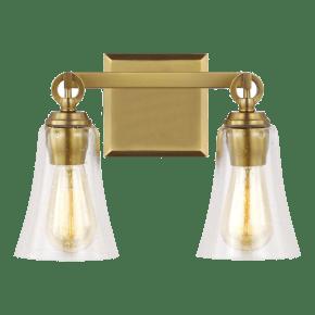 Monterro 2 - Light Vanity Burnished Brass