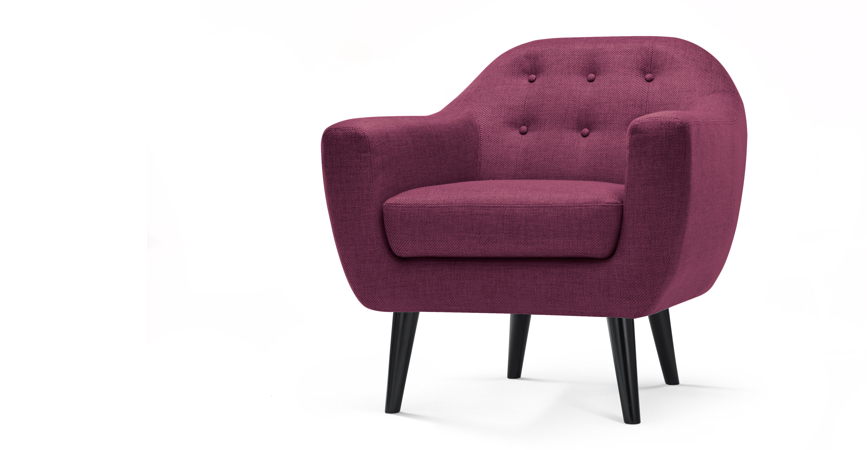 Ritchie Armchair, Plum Purple | made.com
