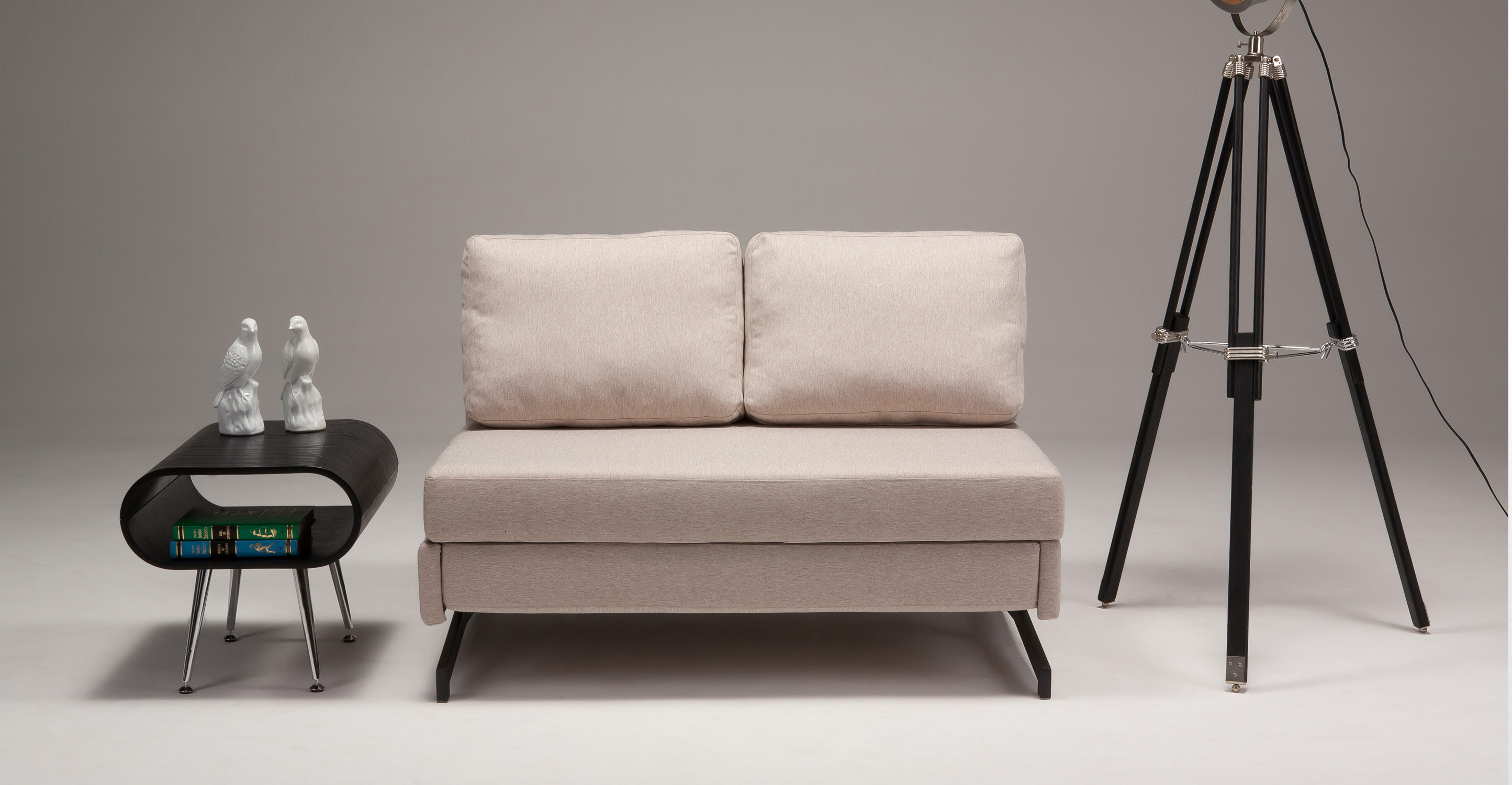 Motti Armless Sofa Bed In Pipit Beige Made Com