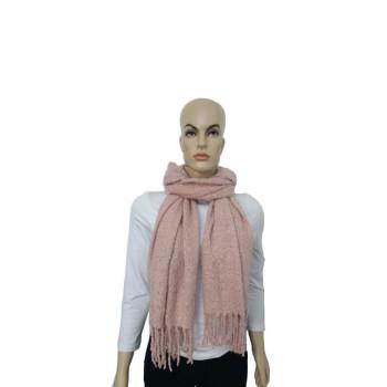 Cachecol Liso - Rosa - Lã Acrílica - Mala Cadabra