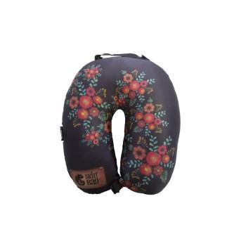 almofada de pescoço floral